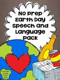 No Prep Earth Day Speech and Language Pack