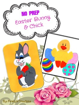 No Prep Easter Bunny & Chick Craft