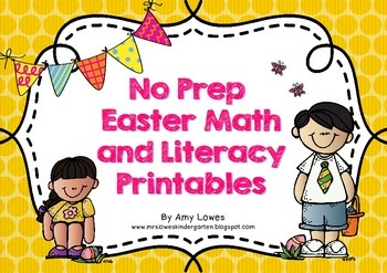 No Prep Easter Math and Literacy Printables