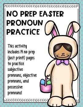 No Prep Easter Pronoun Practice