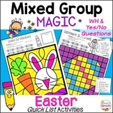 Easter Speech Therapy Activities with Yes-No & WH Questions Quick Lists