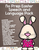 No Prep Easter Speech and Language Pack