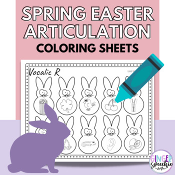 No Prep Easter/ Spring Articulation Coloring: All Sounds