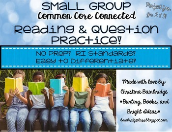 No Prep, Easy to Differentiate Small Group Passages RI for