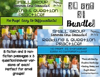 No Prep, Easy to Differentiate Small Group Passages RL & RI BUNDLE!!!