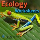 Ecology & Animal Behavior Self-Grading Worksheets and Test