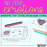 No Prep Feelings and Emotions Body Language Cues