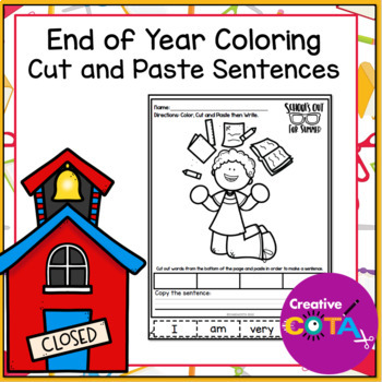 No Prep End of the Year Coloring and Sentences