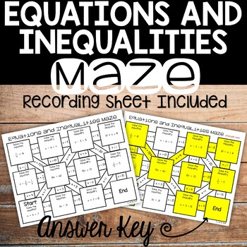 Solving Equations And Inequalities Review Activity