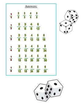 No Prep Equivalent Fractions Game 4.NF.A.1
