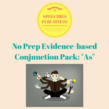 No Prep, Evidence-Based Conjunction Pack: As
