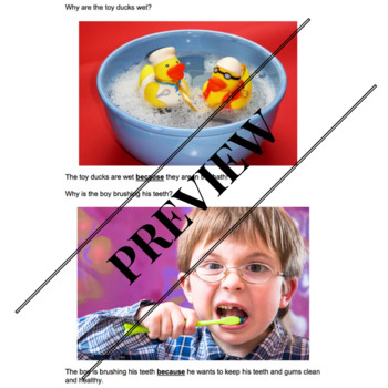 No Prep, Evidence-Based Conjunction Pack: Because (Volume 2)