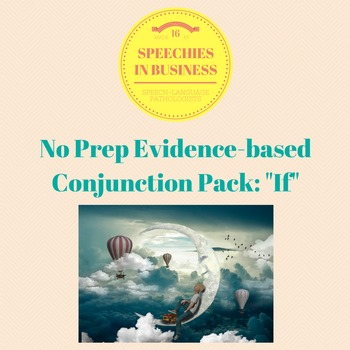 No Prep, Evidence-Based Conjunction Pack: If