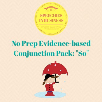 No Prep, Evidence-Based Conjunction Pack: So