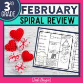 Third Grade Math Homework or 3rd Grade Morning Work for FEBRUARY
