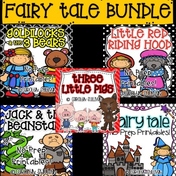 No Prep Fairy Tales BUNDLE