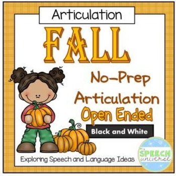 No-Prep Fall Articulation Packet
