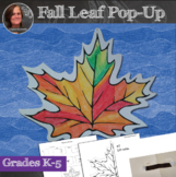 No Prep Fall Leaf Pop-Up Activity