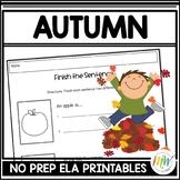Fall Literacy Activities NO PREP