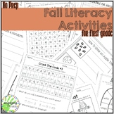 No Prep Fall Literacy Activities for First Grade