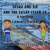 No-Prep Fall Literacy Packet: Tasha and Tio and the Kayak