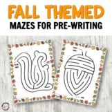 No Prep Fall Mazes for Logic and PreWriting Practice