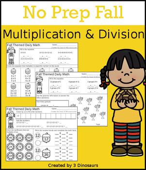 No Prep Fall Multiplication & Division