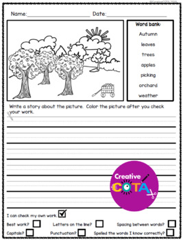 No Prep Fall Picture Prompts For Writing