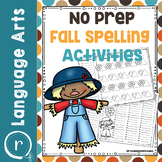 No Prep Fall Spelling Activities and Worksheets