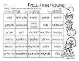 No-Prep Fall: Nouns (Person, Place, Thing)