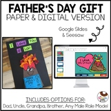 No Prep Father's Day Gift Flip Flap and Craft