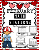 No Prep February Math Stations {Groundhogs, Presidents, & Valentine's Day}