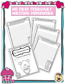 Valentine's Day Writing Prompts Homework