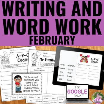 NO PREP February Writing and Word Work Package