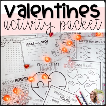 No Prep February and Valentine's Day Activities