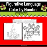 No Prep Figurative Language Color by Number with Christmas Theme