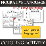 Figurative Language: No Prep! Literary Analysis Coloring Activity: School theme