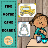 Monthly Fine Motor Game Boards