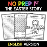 No Prep First Grade Easter Story Bible Lesson - Distance Learning
