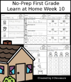 No-Prep First Grade Learning At Home Week 10: Distance Learning