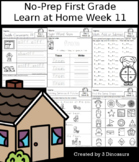 No-Prep First Grade Learning At Home Week 11: Distance Learning
