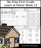 No-Prep First Grade Learning At Home Week 12: Distance Learning