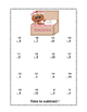 No Prep First Grade Math Worksheets -Subtraction-Common Core-Gingerbread