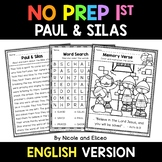 No Prep First Grade Paul and Silas Bible Lesson - Distance