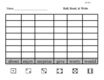 No-Prep First Grade Reading Center: Roll Read Write Reading Street Unit 4 & 5