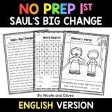 No Prep First Grade Sauls Big Change Bible Lesson - Distan