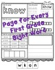 No Prep First Grade Sight Word Activities