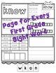 No Prep First Grade Sight Word Activities