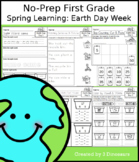 No-Prep First Grade Spring Learning: Earth Day Week - Dist