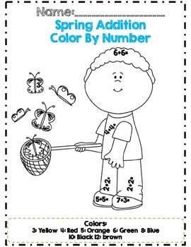 *No Prep* First Grade Spring Math & ELA Activity Packet *Common Core Aligned*